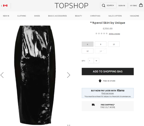 Source: TOPSHOP.com